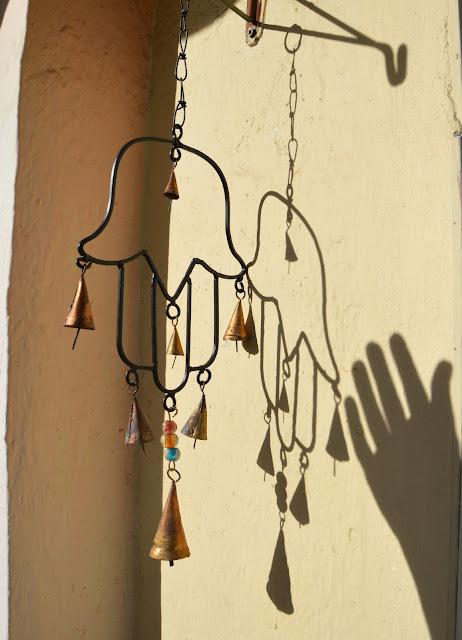 Dzwonki wietrzne w kształcie ręki Fatimy