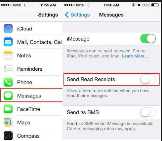 How to Turn  On/Off iMessage Read Receipts Per Person