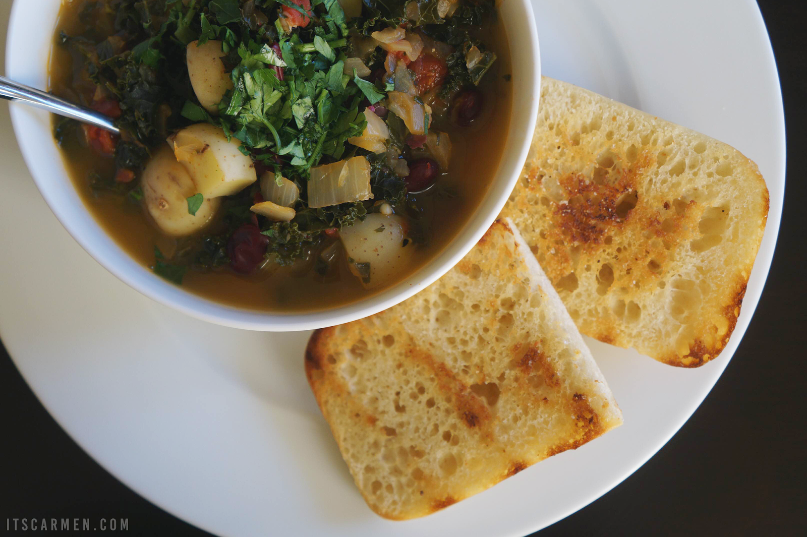 Portuguese kale red bean soup Sun Basket