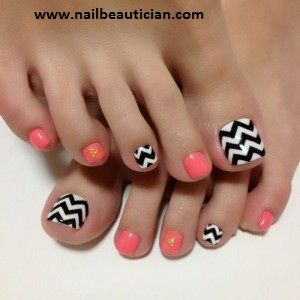 winter toe nail designs