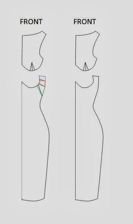 patrón del vestido que adelgaza