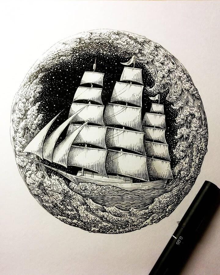 09-Sailing-ship-Alex-Konahin-www-designstack-co