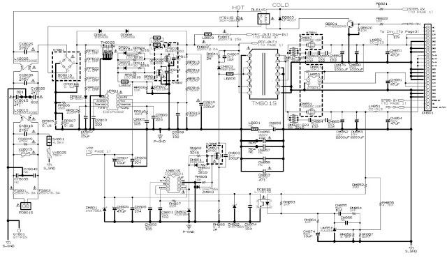 some common samsung tv circuit diagrams