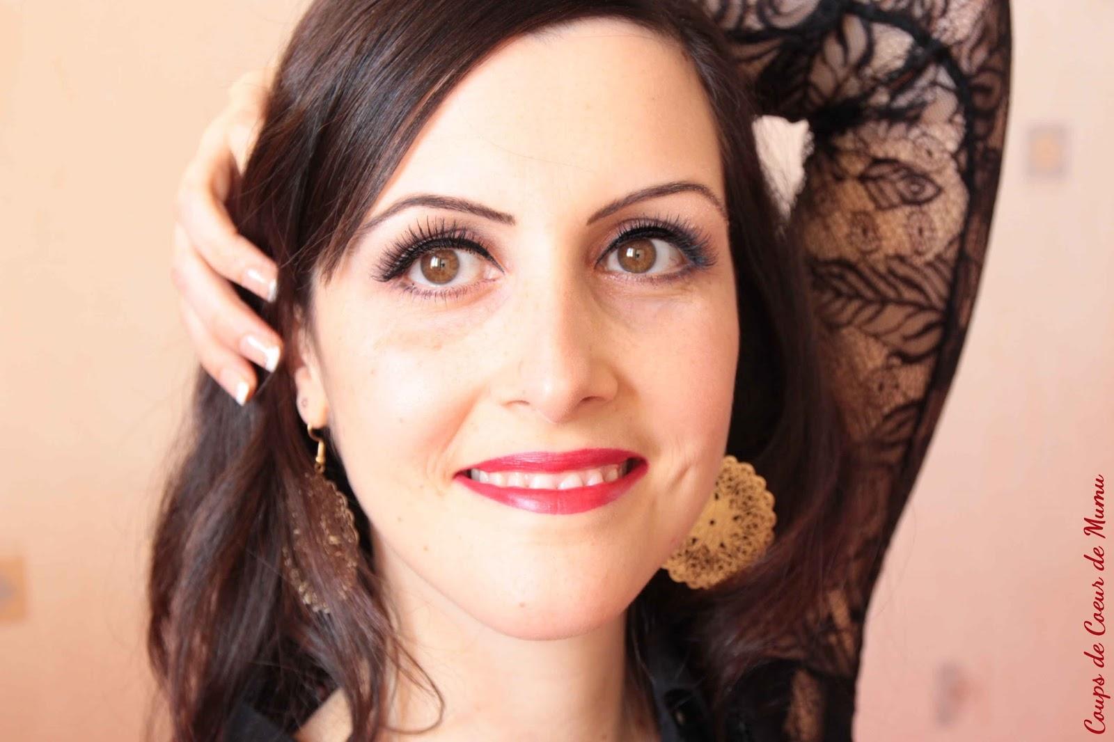 mon maquillage de r veillon avec elf et kiss coups de. Black Bedroom Furniture Sets. Home Design Ideas
