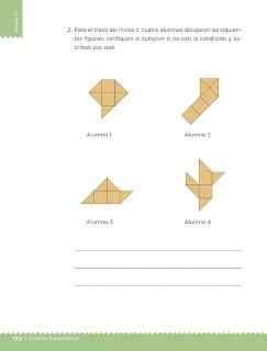 Apoyo Primaria Desafíos Matemáticos 4to. Grado Bloque IV Lección 80 Contorno y superficie