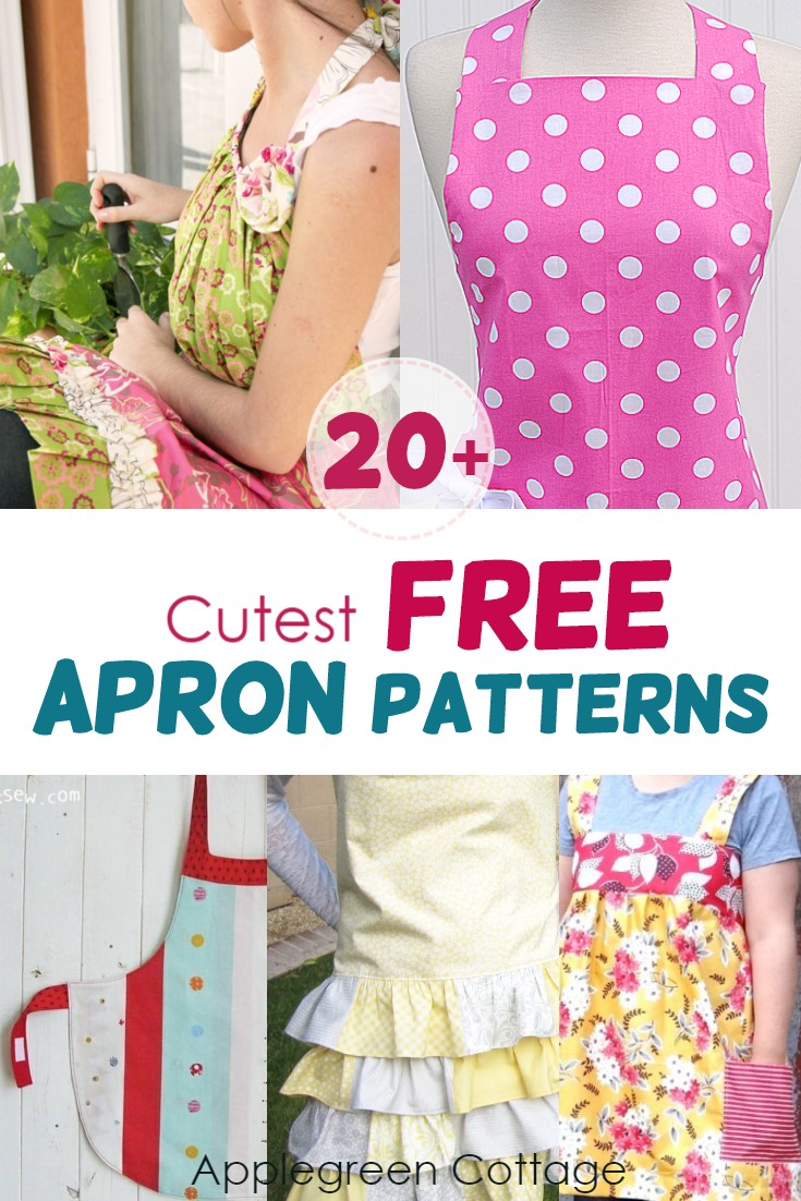 picture about Free Printable Apron Patterns known as 20+ Cost-free Apron Behaviors - AppleGreen Cottage