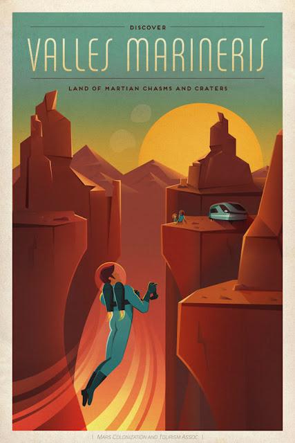 poster 1 de viagem para Marte - SpaceX