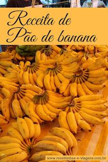 Como fazer pao de banana