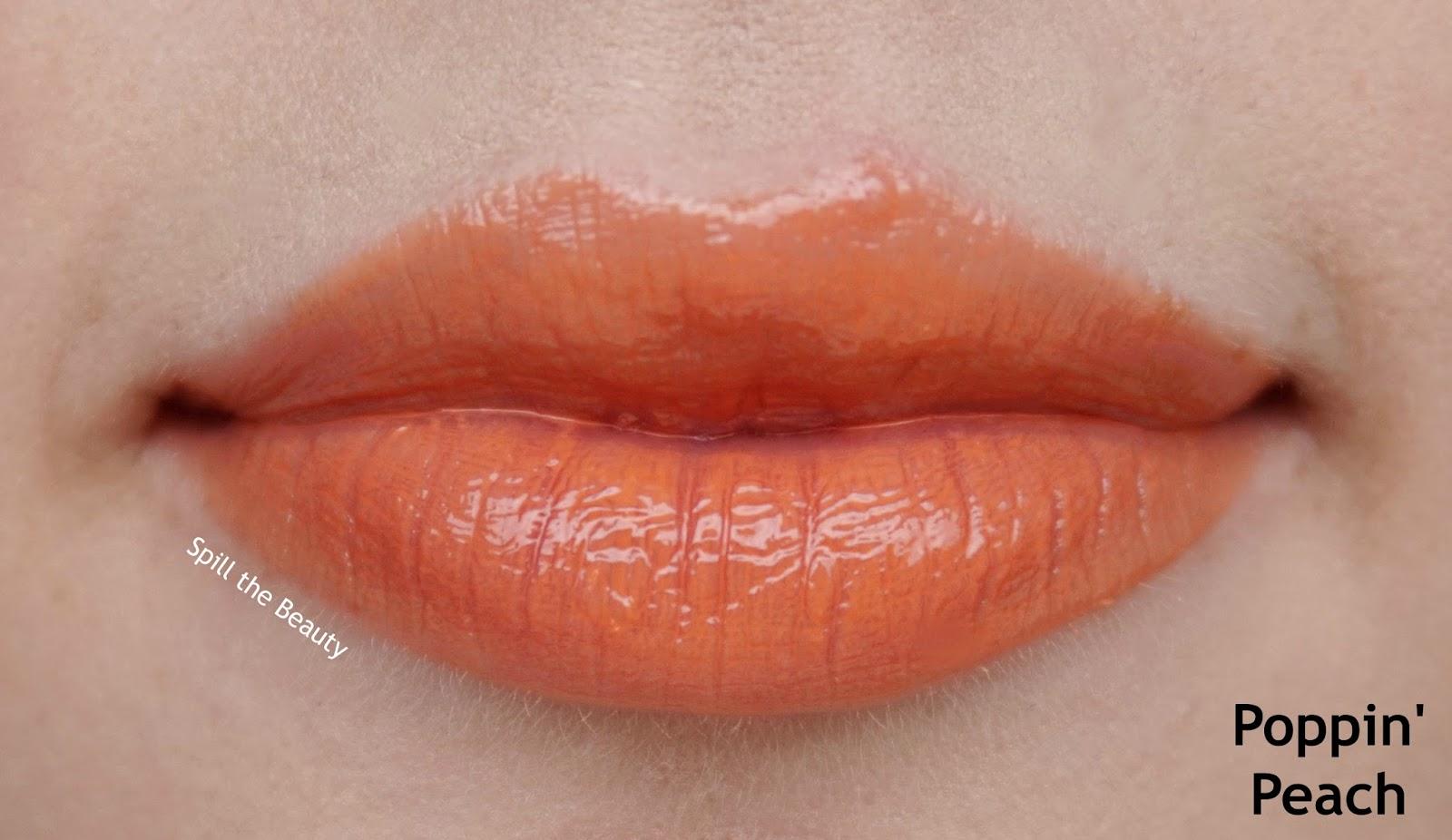 Too Faced gloss poppin peach