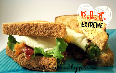 BLT Extreme {Domestic Femme} #Bacon #Lettuce #Tomato #Egg #Sandwich #Sandwiches #Quick #Meal #Meals #Dinner #Dinners #Easy #Eggs #Recipe #Recipes