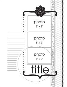 January Single Page Sketch