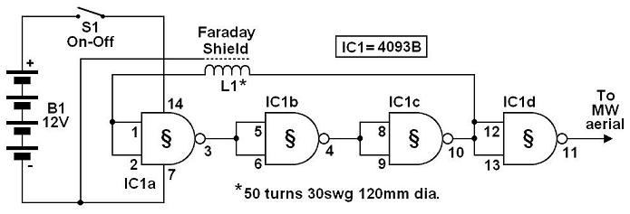 bfo metal detector circuit with ic 4093