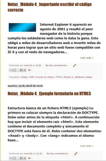 Resumen de entradas en Blogger_Modificar formato texto