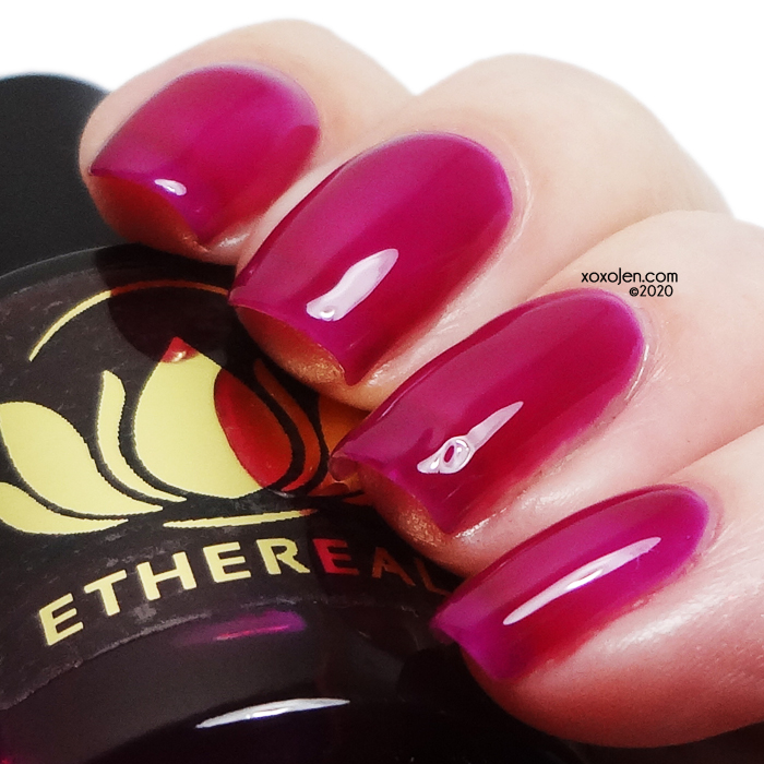 xoxoJen's swatch of Ethereal Dragonfruit