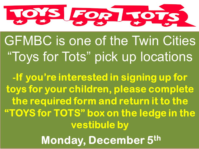 Toys For Tots Pickup : Gfmbc minneapolis schedule december