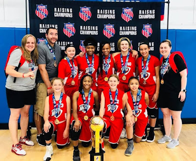 Heart of Illinois Girls 6th Grade Girls Basketball Team Win AAU D2 National Championship in Rockford, IL., Metamora Herald