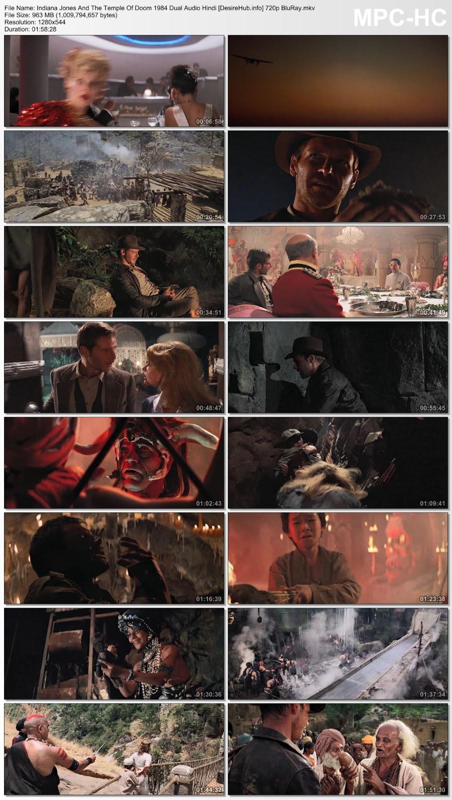 Indiana Jones And The Temple Of Doom 1984 Dual Audio Hindi 720p BluRay 950MB Desirehub