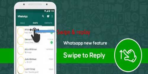 "WhatsApp came on Android Apps 'swipe to reply ""feature"