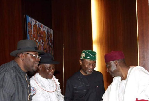 Live From Aso Rock As Niger Delta Leaders Meet President Buhari