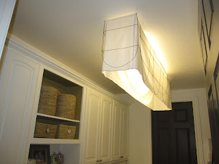 fluorescent light fixture fabric shade