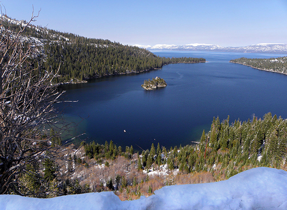 Iconic Winter Picture of Lake Tahoe from Eagle Creek