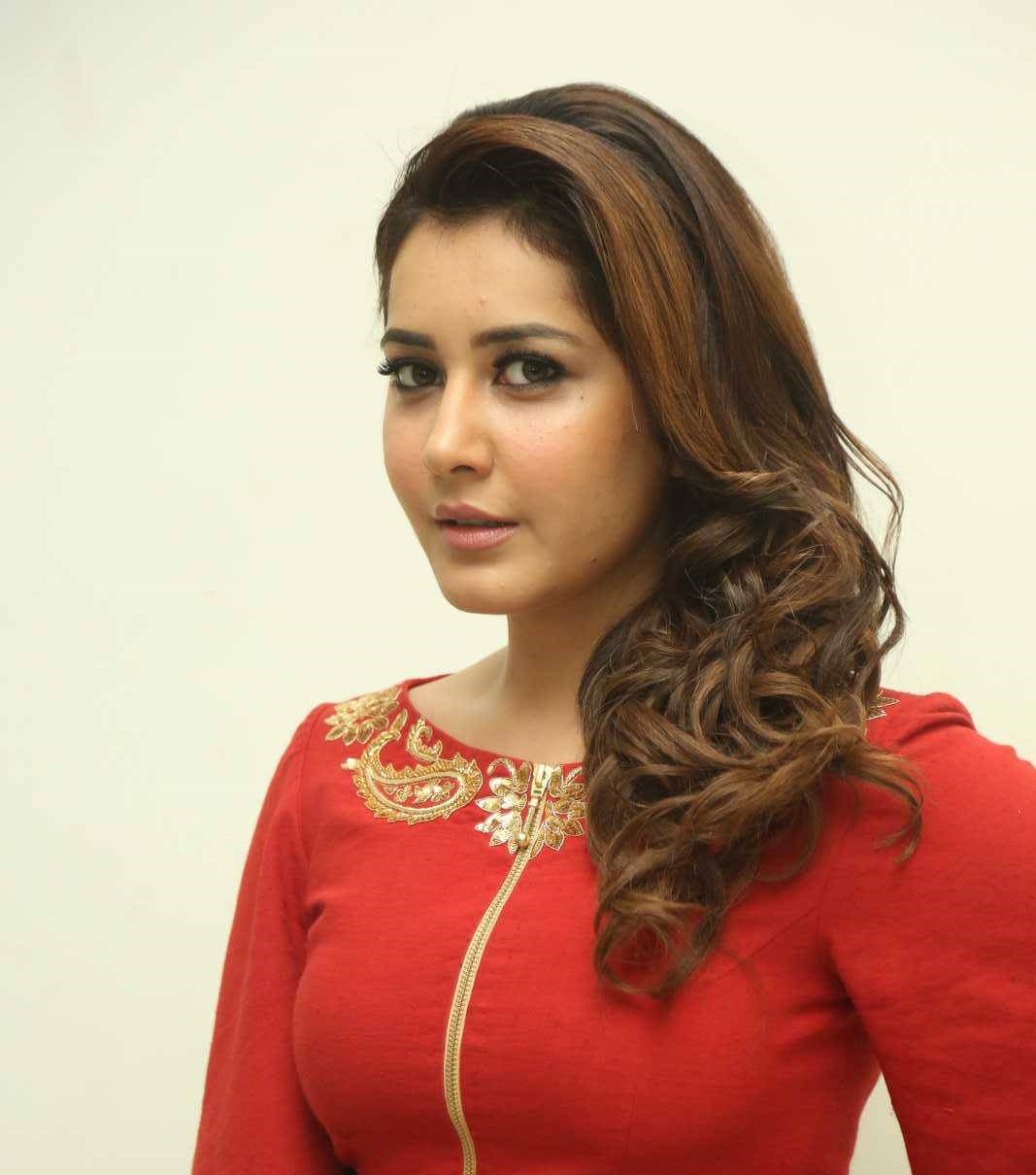 Rashi Khanna Photos In Red Dress