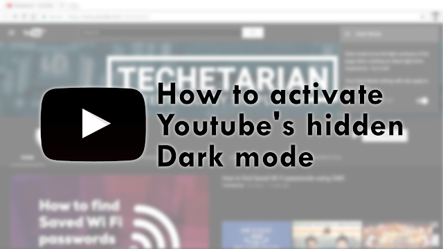 YouTube Hidden Dark Mode
