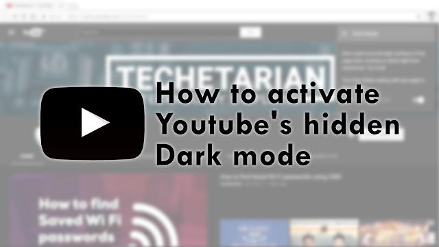 YouTube Hidden Dark Mode