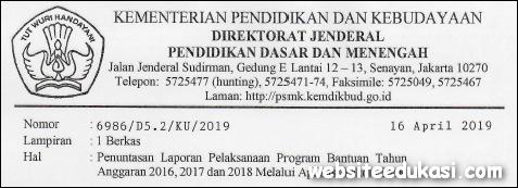 Penuntasan Laporan Pelaksanaan Program Bantuan SMK