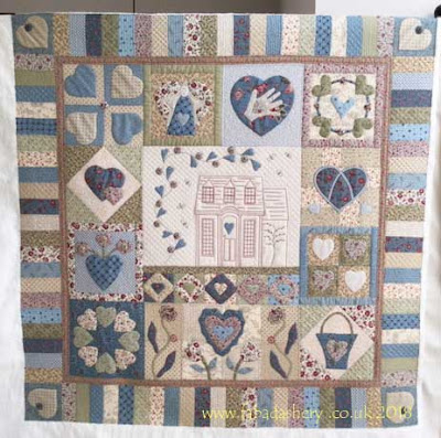 Jill's Applique and Stitchery Quilt Custom quilted by Frances Meredith, Fabadashery Longarm Quilting