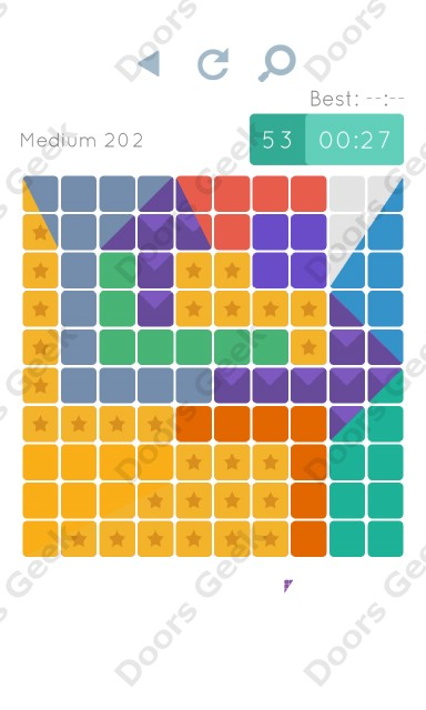 Cheats, Walkthrough for Blocks and Shapes Medium Level 202