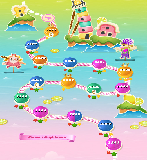 Candy Crush Saga level 3381-3395