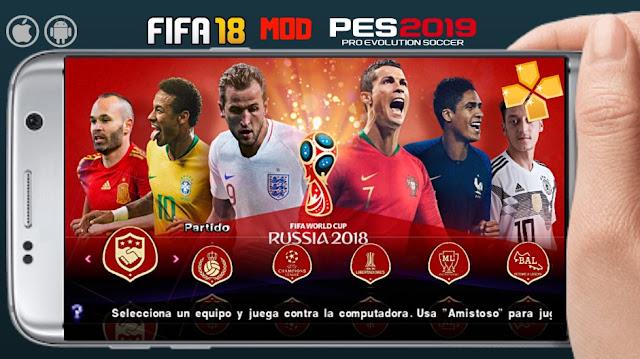 تحميل لعبة FIFA 18 Mod PES 2019