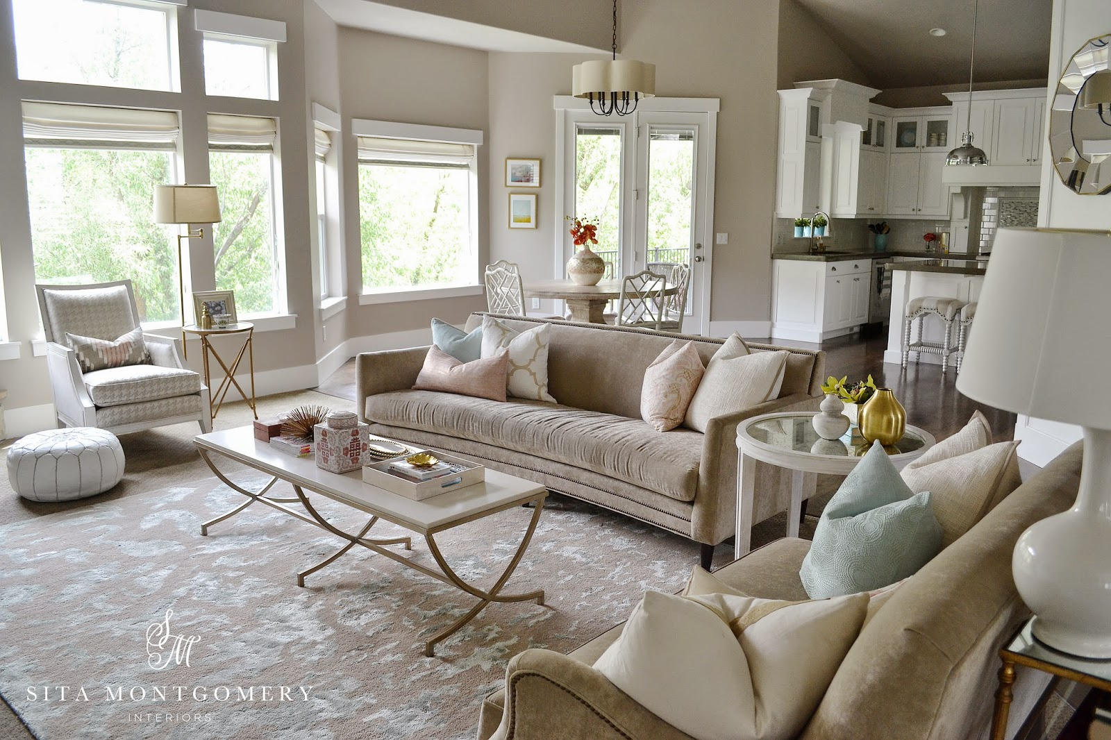 Sita Montgomery Interiors  My Home Family Room Mini Makeover Reveal     It didn t take much this time  and the changes are pretty subtle  but the  family room great room area finally has the feel and look I had always been  hoping