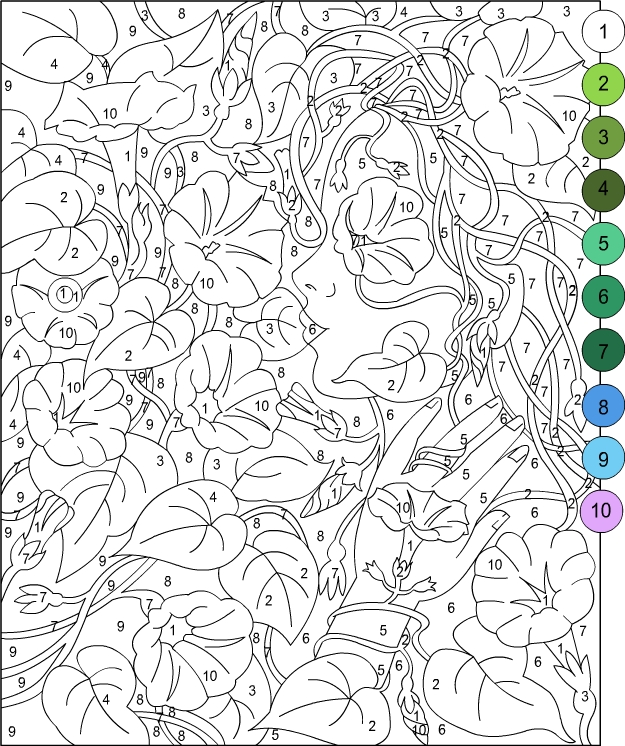 This is a picture of Vibrant Color By Number Adult Coloring Books