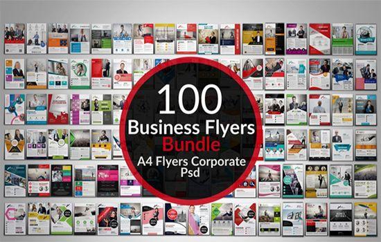 مجموعة فلاير ملفات مفتوحة  [100 Creative Business Flyers Bundle]