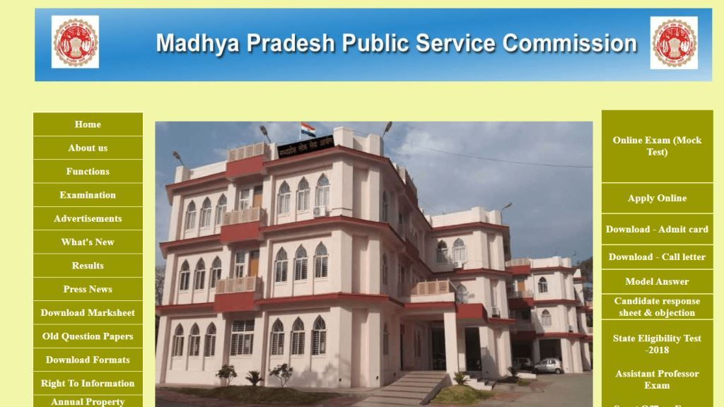Madhya Pradesh State Service Examination, 2019