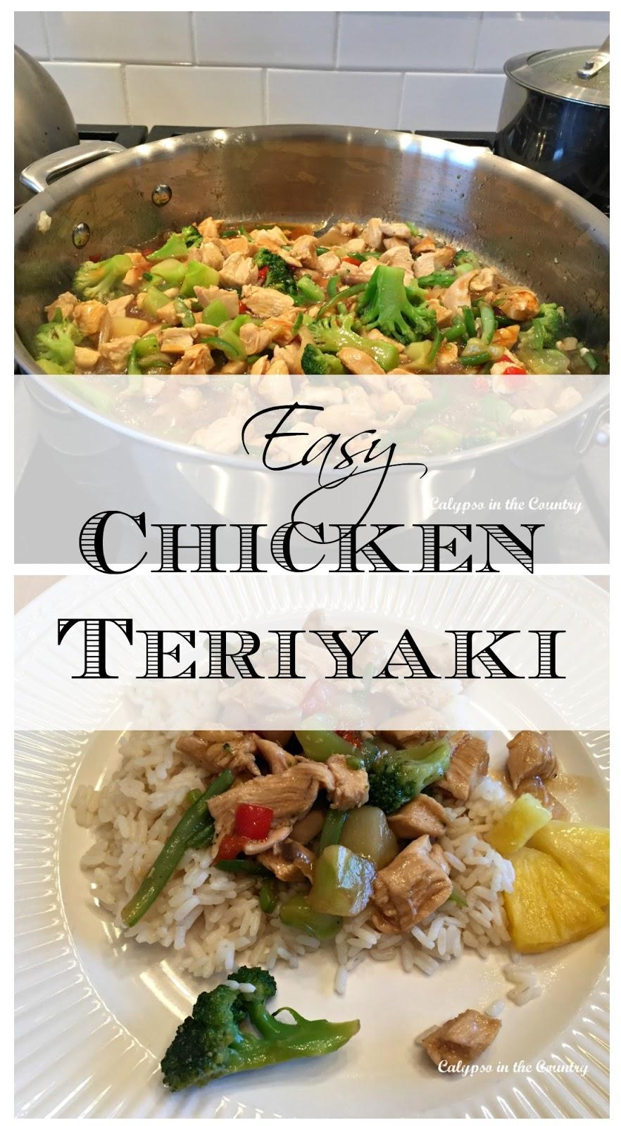 Easy Chicken Teriyaki Stir Fry Recipe - Calypso in the Country Blog