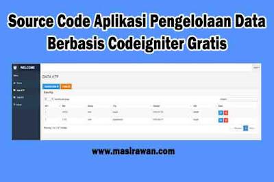 Source Code Aplikasi Pengelolaan Data Kecamatan Berbasis Codeigniter