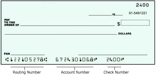 Bank Of America Routing Numbers
