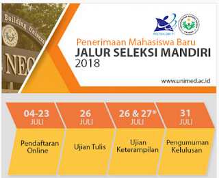 PENDAFTARAN DAN DAYA TAMPUNG MAHASISWA BARU JALUR MANDIRI UNIMED 2018