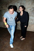 Saif, Kareena & Karishma Watch the 'Gori Tere Pyar Mein' Movie at Lightbox