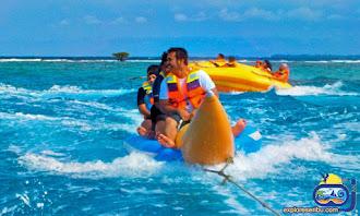 banana boat di pulau pelangi