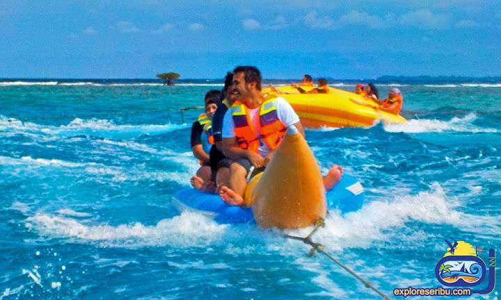 banana boat di perairan pulau harapan