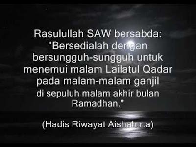 10 malam terakhir Ramadhan, menggapai Lailatul qadar