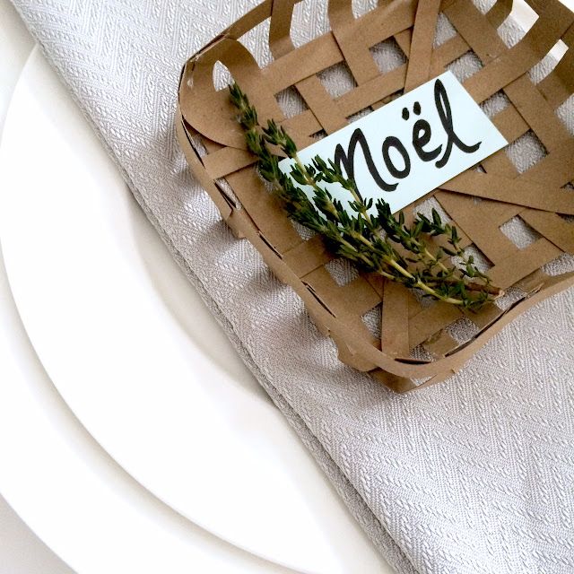 DIY Mini Tobacco Basket Placecard - Harlow and Thistle