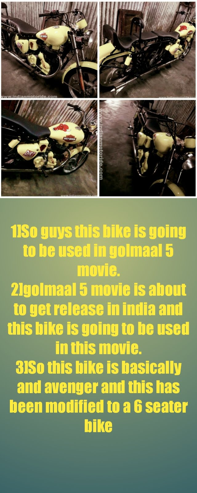 [secret] Golmaal 5 movie bike