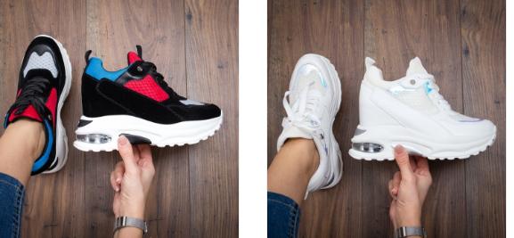 Sneakersi moderni negri , negri cu rosu