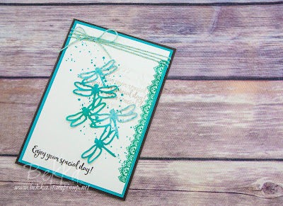 Vibrant Dragonflies Birthday Card made using Stampin' Up! UK products.  Buy yours here