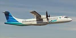 Garuda Indonesia melayani rute Surabaya-Banyuwangi-Denpasar PP dengan pesawat ATR72-600.